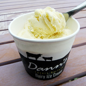 ice cream from Dann's Farm