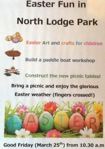 Good Friday (March25th) we will be in North Lodge Park