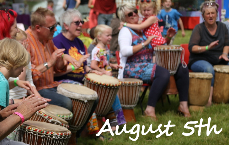 african drumming in the Park