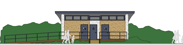 proposed toilets in North Lodge Park