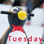 ice skating penguin - tuesday