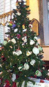 christmas tree in the cafe