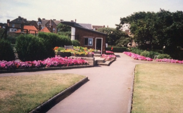 Cromer's North Lodge Park in the early 1960s. The park is in full bloom thanks to the stunning displays created by park superintendent Billy Baker and his team.