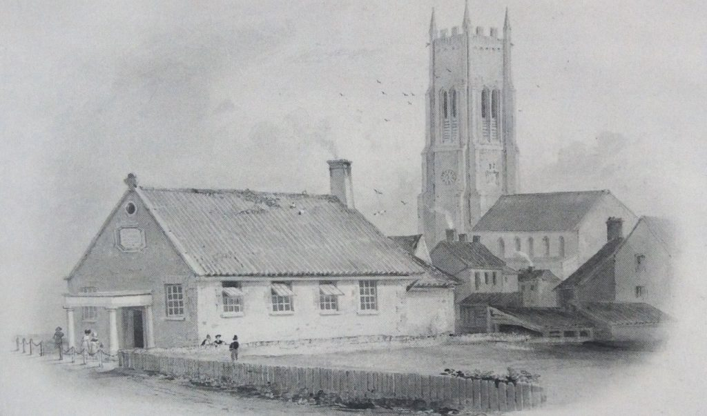 The 1821 Goldsmiths School building on Overstrand Road, Cromer, drawn by Philip Hardwick in 1833.