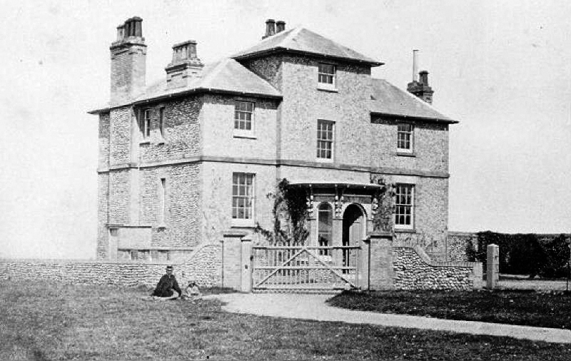 North Lodge in Cromer's North Lodge Park before 1886, when the east wing added