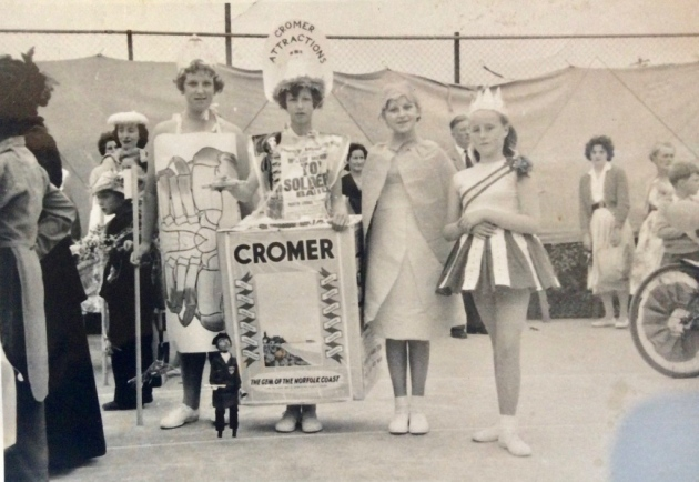 Ann West pictured the following year at the Fancy Dress competition on the park's hard tennis courts. Ann's elder brother Ralph, who was born in their grandparents' first floor flat in North Lodge, used to help her construct her prize-winning Fancy Dress outfits.