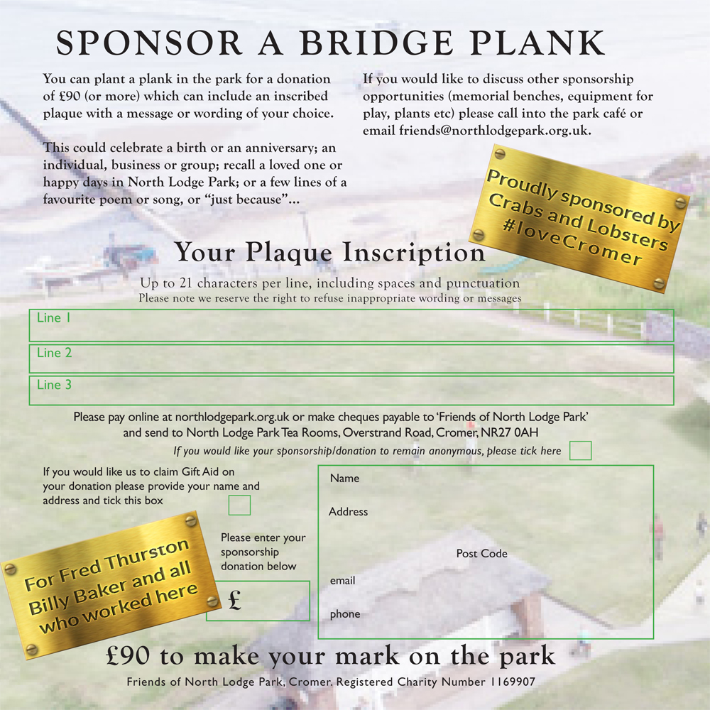 sponsor a plank - sponsorship form