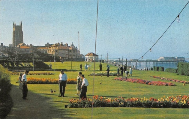 Golfing fun in 1949 at Cromer's North Lodge Park.
