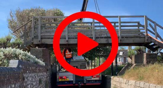 north lodge park bridge removal video