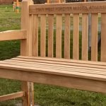 Upper lawn benches have arrived - yippee