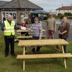 New picnic benches